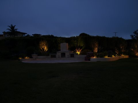 Landscape Lighting Hidden Hills Patio Area