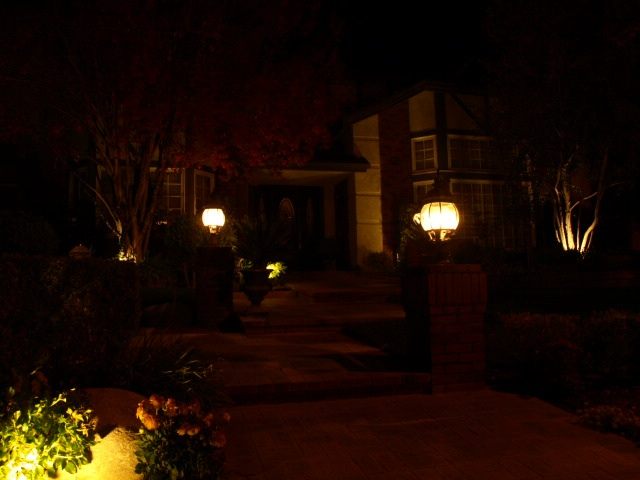 Landscape Lighting Hidden Hills Entrance